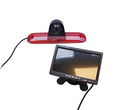 "Wireless Fiat Ducato 06-15 Rear Reverse Camera Brake Light+ 7"" Dash Monitor Kit"