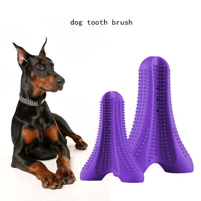 Dog Toothbrush Toy Clean Teeth Brushing Stick Pet Clean Mouth Chewing UK