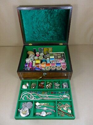 ANTIQUE WILLIAM IV ROSEWOOD  JEWELLERY/SEWING  BOX.C1830-1835 (Code 510)