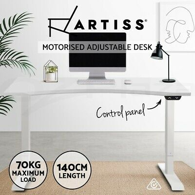 Artiss Height Adjustable Standing Desk Riser Electric Motorised Sit Stand Table