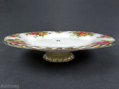 "OLD COUNTRY ROSES 20cm 8"" CAKE STAND / LOW COMPORT, 1st QUALITY, GC, ALBERT"