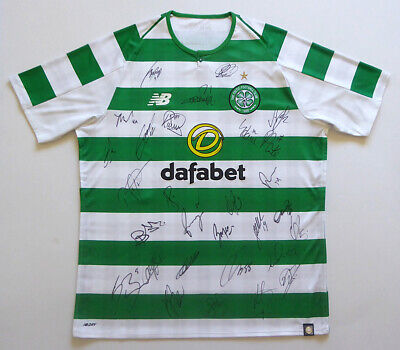 Glasgow Celtic 2018-19 home shirt signed by the first team squad. Treble Treble.