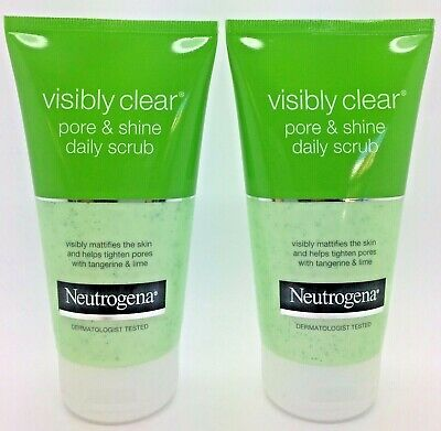 Neutrogena Visibly Clear Pore & Shine Daily Scrub 150ml   x2