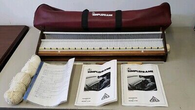 The SIMPLEFRAME Model S100 Wooden Knitting Machine & Tools in Original Bag