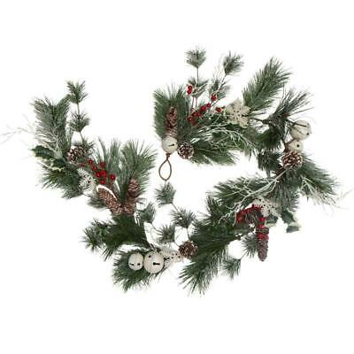 ICY Pine Holiday Garland with Jingle Bells