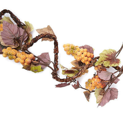 ICY Gold Artificial Grape and Leaf Vine Garland