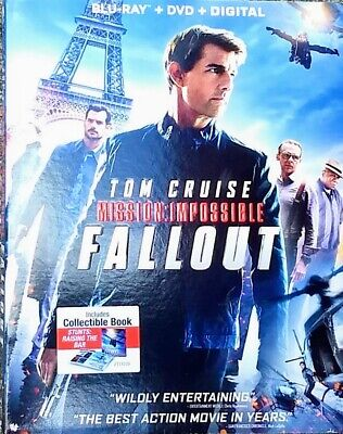 Mission: Impossible ~ FALLOUT* Tom Cruise * 3-Disc Set * Blu-ray & DVD *FREE S/H