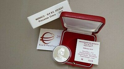 MONACO 10 euro 2019 Ag BE PP Fs proof Grace Kelly Монако 摩纳哥 モナコ Fondo Specchio