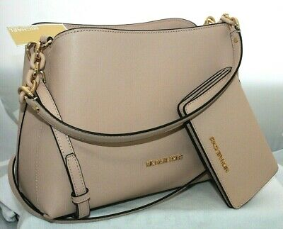 d083fa9a9adff9 NEW MICHAEL KORS SOFIA LARGE SAFFIANO LEATHER SATCHEL BAG or WALLET or SET