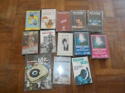 lot de 13 cassettes audio tape k7