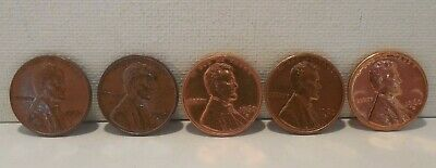 Lot of 5 - 1960-D - Lincoln Memorial Cents - Re-Punched Mint Marks - 3 Different