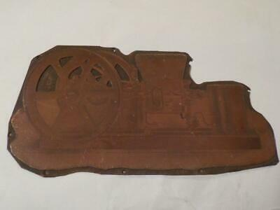 Antique Copper Amanco Stationary Engine Picture Printing Plate