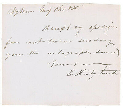 Edmund Kirby Smith - Autograph Letter Signed