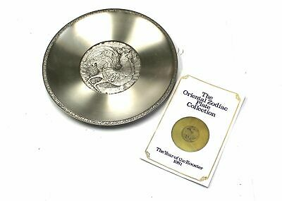 SELANGOR PEWTER Chinese Zodiac Plate / Year Of The Rooster 1981 - C52