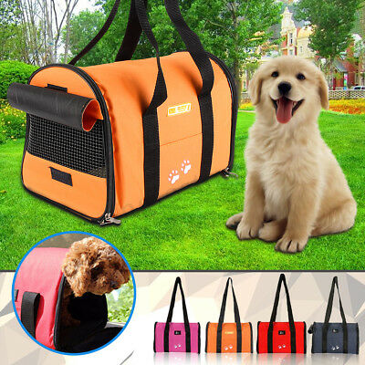 Pet Dog Puppy Cat Portable Travel Carrier Tote Cage Bag Crates Breathable