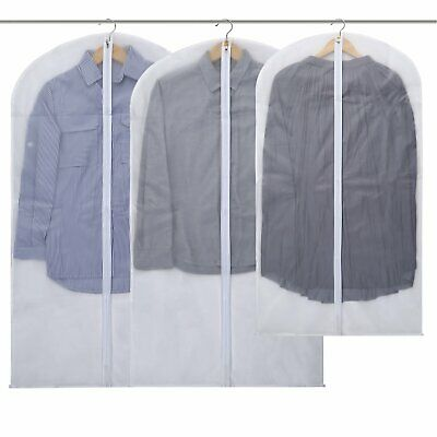 Without Wrinkles Zipper Suit Bags Protector Cover for Wardrobe Clothes Storage