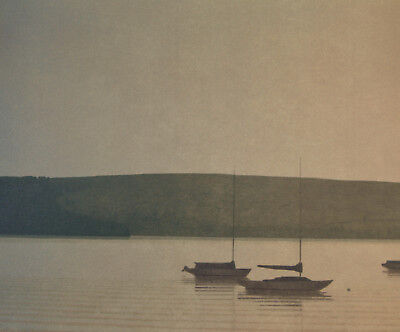 RUSSELL CHATHAM Still Evening at Tomales Bay Signed Lithograph