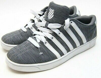 acd47b61e2c22a K-Swiss Court Pro Ii 2 T Cmf Low Denim Castlerock Grey White Black 05011