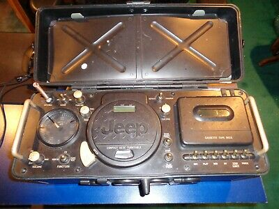 Jeep CD/AM/FM Weatherband Cassette Player Radio water resistant Boombox