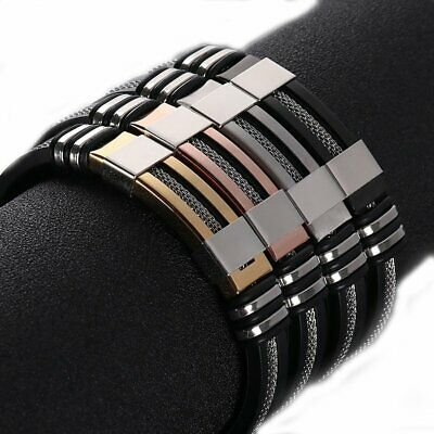 2019 Unisex Women Men Stainless Steel Braided WristBand Bangle Bracelet Handmade