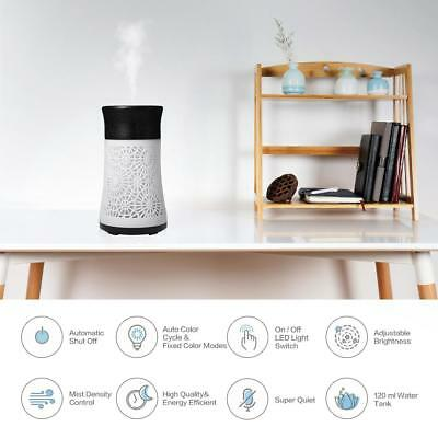 120ml LED Ultrasonic Essential Oil Aroma Diffuser Humidifier Air Atomizer