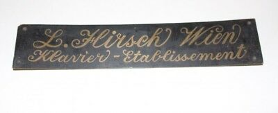 Original Antique Sign Klavierbauer Piano L. Stag Vienna Klavier-Etablissement