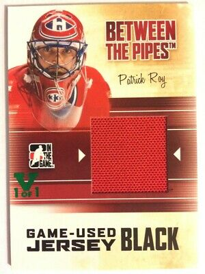 2010-11 Between The Pipes Game-Used Jersey Black Patrick Roy Vault Green 1/1