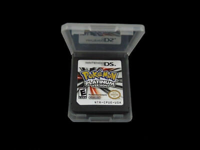 Black New Pokemon Platinum US Version Game Card for 3DS NDS DSI