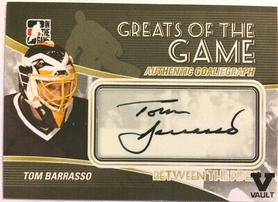 2010-11 Between The Pipes GoalieGraph Autograph Tom Barrasso SP Auto #A-TBA