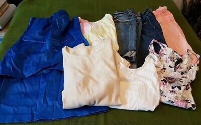 Bundle women's clothes size 8 10 XS dress jeans shorts tops t-shirt Job lot 4R