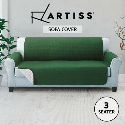 Artiss Sofa Cover Quilted Couch Covers Lounge Protector Slipcovers 3 Seater