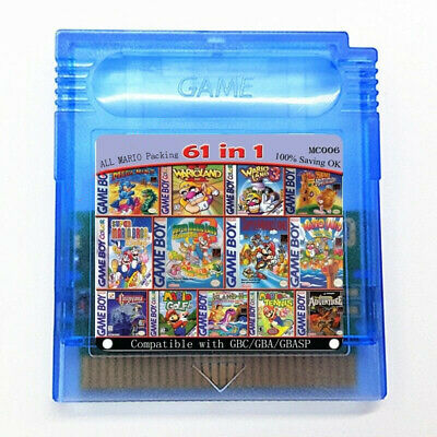 61 in 1 Game Boy COLOR GBC Multi Cart Super Mario Land 2 - 6 Golden / Megaman