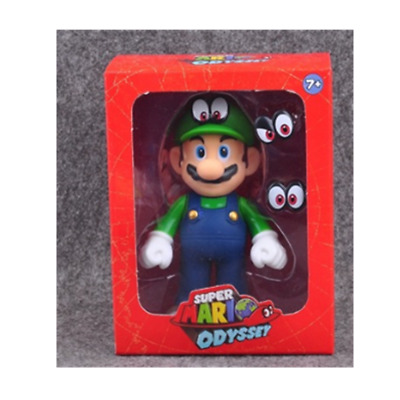 Super Mario bros Odyssey green Luigi action figure 12cm Christmas birthday gift