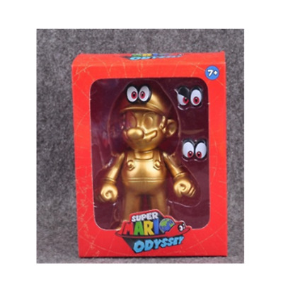 Super Mario bros Odyssey Gold action figure 12cm Christmas birthday gift  E