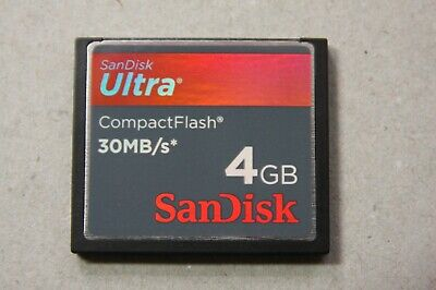 Sandisk Ultra 4GB 30mb/s Compact Flash CF Camera Memory Card with case #2