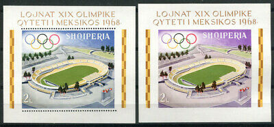 Albania 1968 Mi. Bl. 33AB SS 100% MNH Olympic Games, Mexico