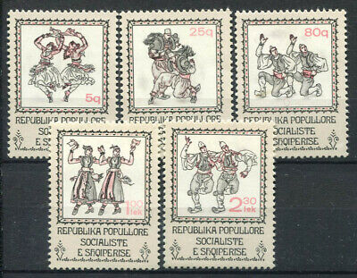 Albania 1978 Mi. 1948-1952 MNH 100% Traditional costumes, dance