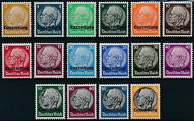 [H18075] Luxembourg 1940 GERMAN OCCUPATION Good set of stamps very fine MNH