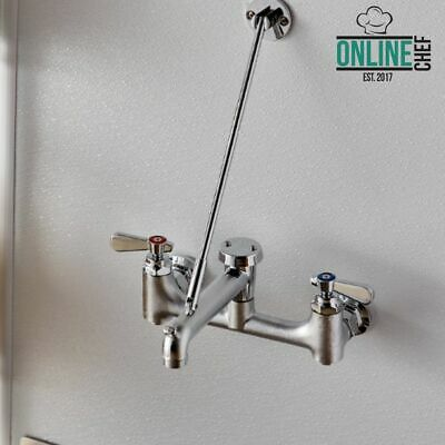 Wall Mounted Mop Sink Faucet with Vacuum Breaker Restaurant Office Home Stores