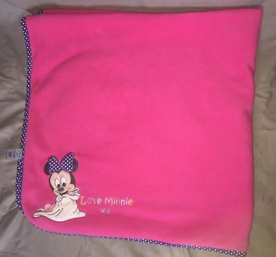 couverture neuve ultra douce rose flanelle minnie inedit