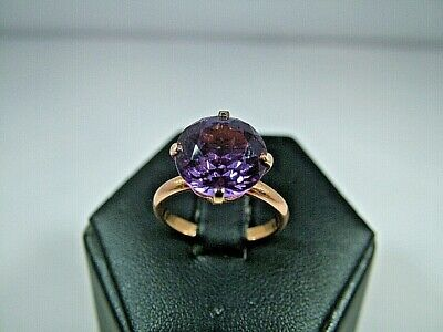 Rare Antique Art Deco 18ct Rose Gold Large 6.00ct Alexandrite Ring Circa 1930's