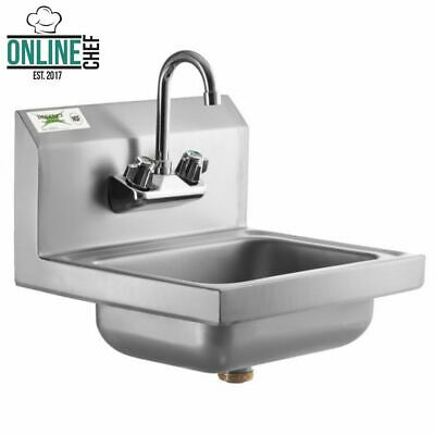 Hand Wash Sink w/ FAUCET Commercial Stainless Steel Wall Mount Kit NSF 17 x 15""