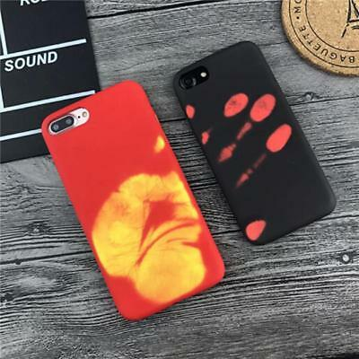 Thermal Sensor Heat Induction iPhone 7 6 6S Plus Decor Discoloration Phone CaseD