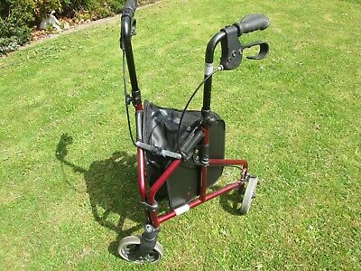 1821 3  Wheel Walking Aid with storage bag     Used