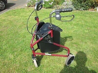 1822 3  Wheel Walking Aid with storage bag     Used