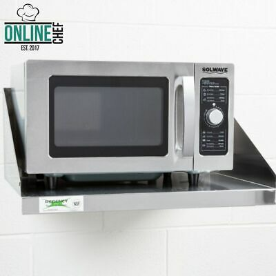 """Stainless Steel Commercial Restaurant Wall Mount Microwave Shelf NSF 24"""" x 18"""""""