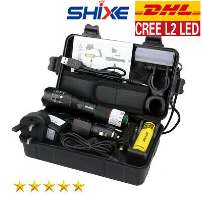 Taschenlampe 8000lm Shadowhawk X800 Polizei L2 LED Zoomable Fackel DHL G700 CREE