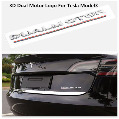 1PC MODEL 3 P3D Tesla decal sticker badge emblem rear trunk bumper