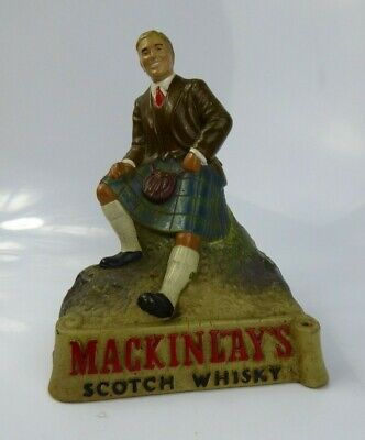 Mackinlay's Scotch Whisky Rubberoid Bar Advertising Figure 1950s Rare Breweriana