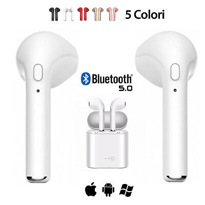 Auricolari Cuffie Bluetooth 5.0 Wireless Per Android Ios Apple Samsung Iphone